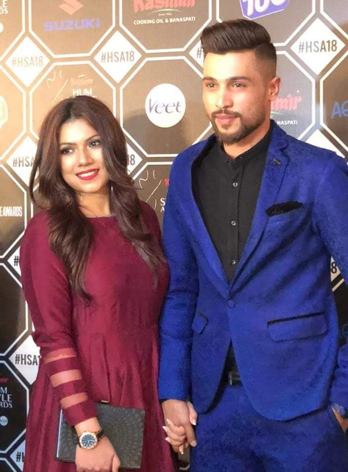 Muhammad Amir With His Wife