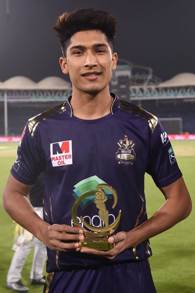 Muhammad Hasnain Take A Man Of The Match Award