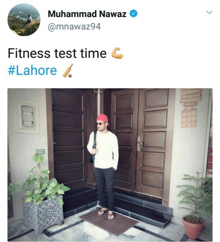 Muhammad Nawaz Fitness Test Time