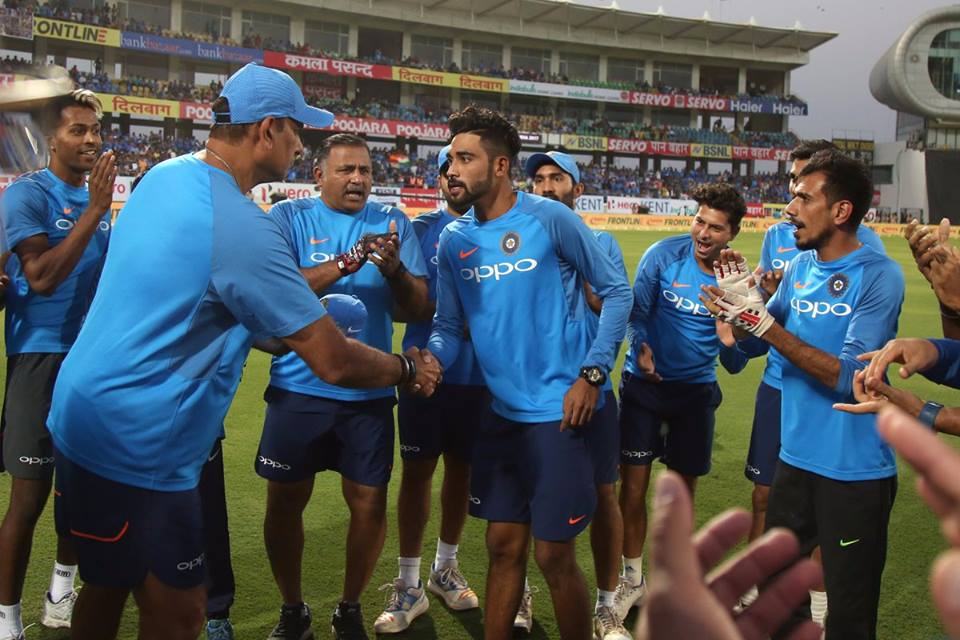 Muhammad Siraj Received His Cap From Ravi Shastri