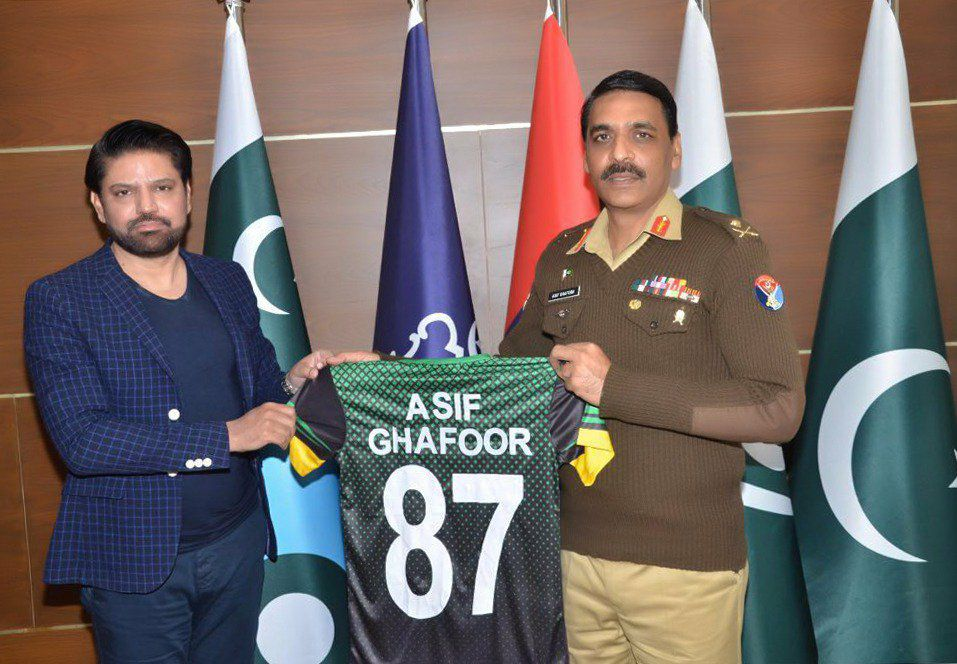 Multan Sultans Owner Presented Jersey To DG ISPR