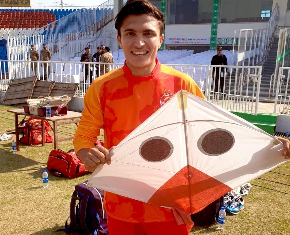 Musa Enjoying To Fly Kite