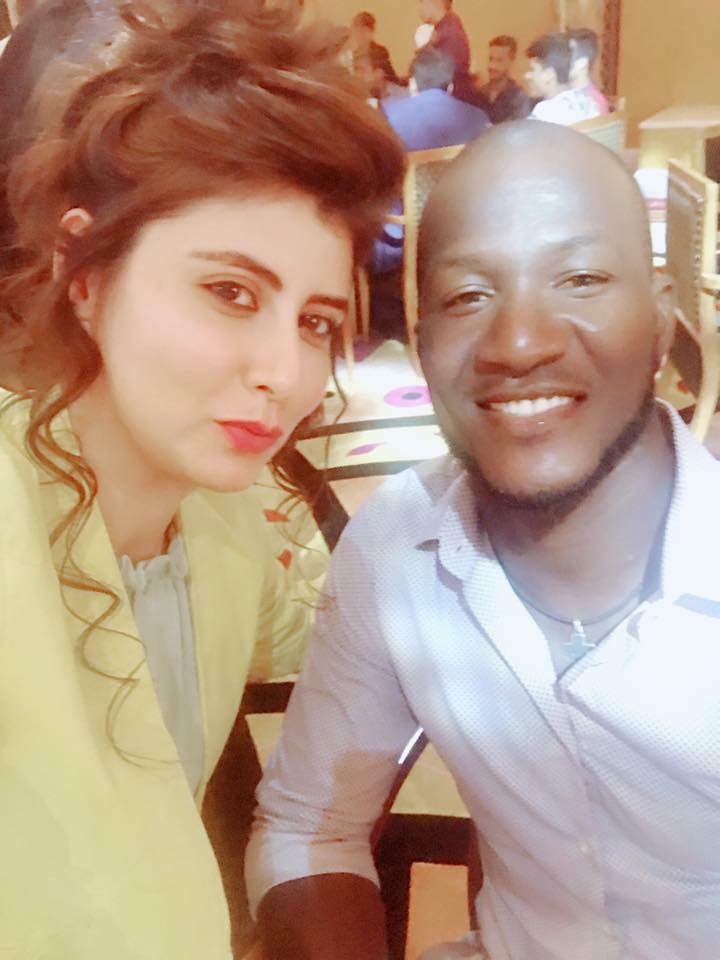 Najeeba Faiz With Darren Sammy