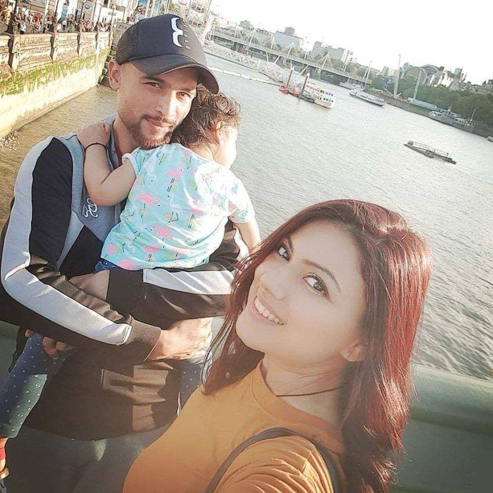 Narjis Amir With Her Husband Mohammad Amir
