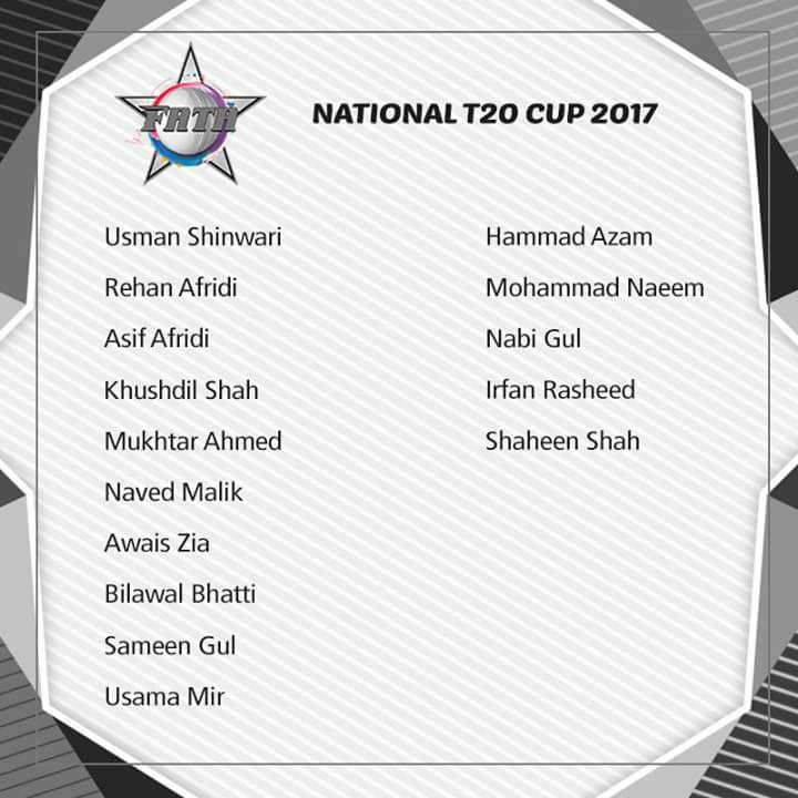 National T20 Cup 2017 FATA