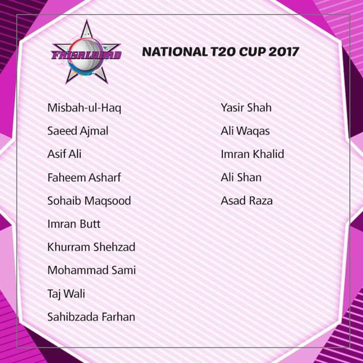 National T20 Cup 2017 Faisalabad