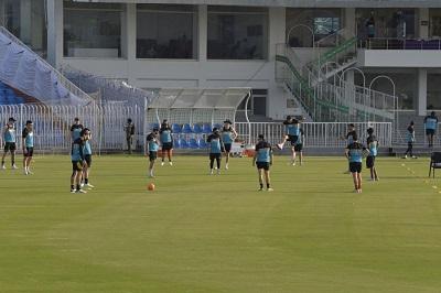New Zealand Cricket Team Training Session At The Pindi Cricket Stadium, Rawalpindi