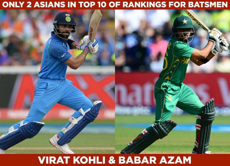 Only Two Asians In Top 10 ODI Ranking