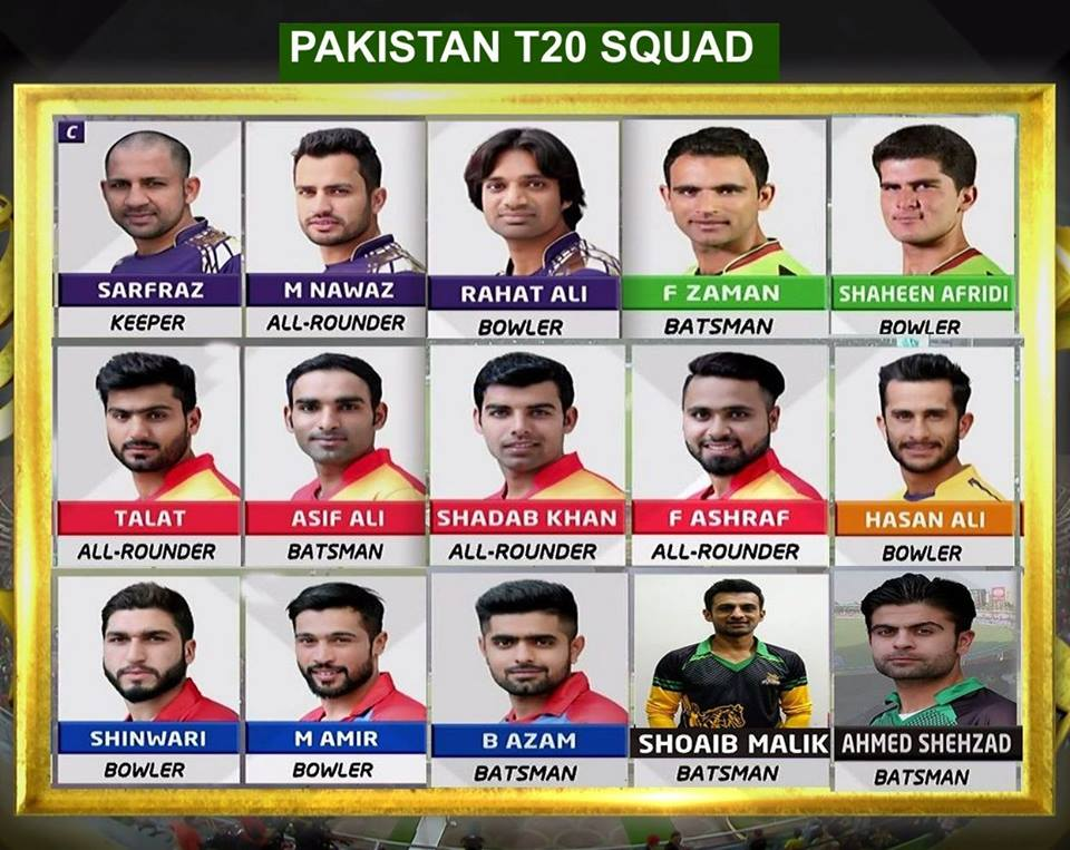 PCB Have Announced The Squad For 3 Match T20I Series To Be Played In Karachi