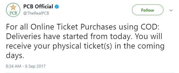 PCB Official Tweet About Ticket - Cricket Images & Photos