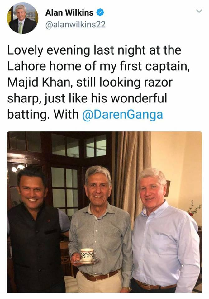 PSL Commentators Alan Wilkins & Darren Ganga In Lahore With Majid Khan