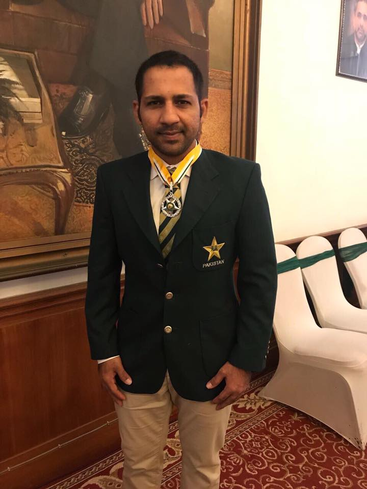 Pakistan Captain Sarfraz Ahmed Awarded The