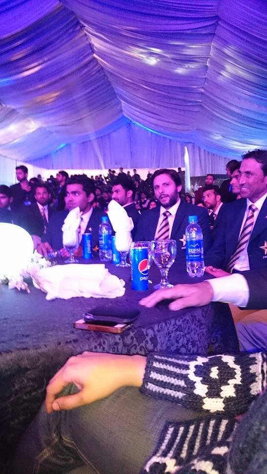 Pakistan Cricket Team At Event Of Their Official kit For WC 2015