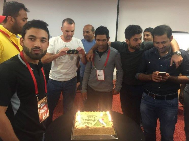 Pakistan Cricket Team Celebrates The Birthday of Asad Shafiq