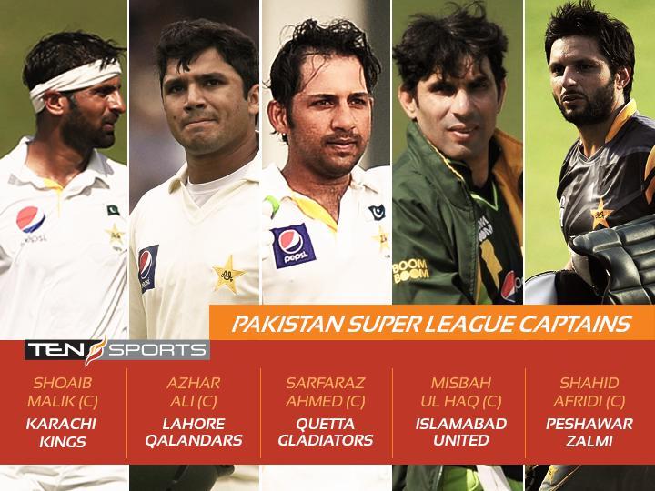 Pakistan Super League Five Franchise Captains
