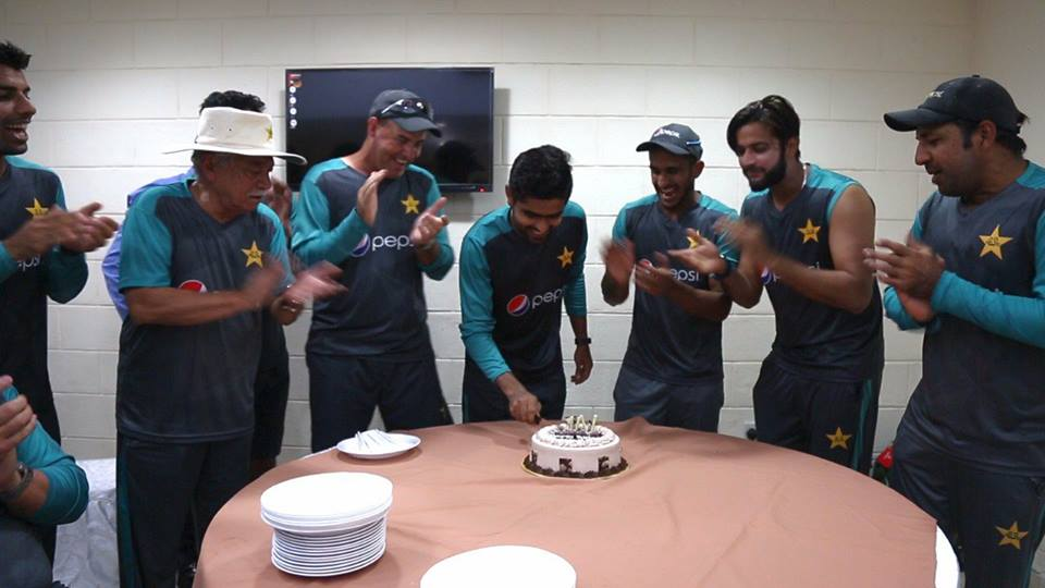 Pakistan Team Celebrates Birthday Of Babar Azam