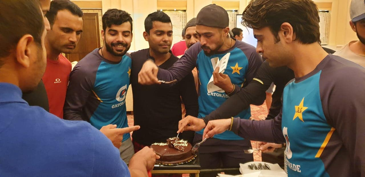 Pakistan Team Celebrating Shadab Khan's Birthday In Lahore