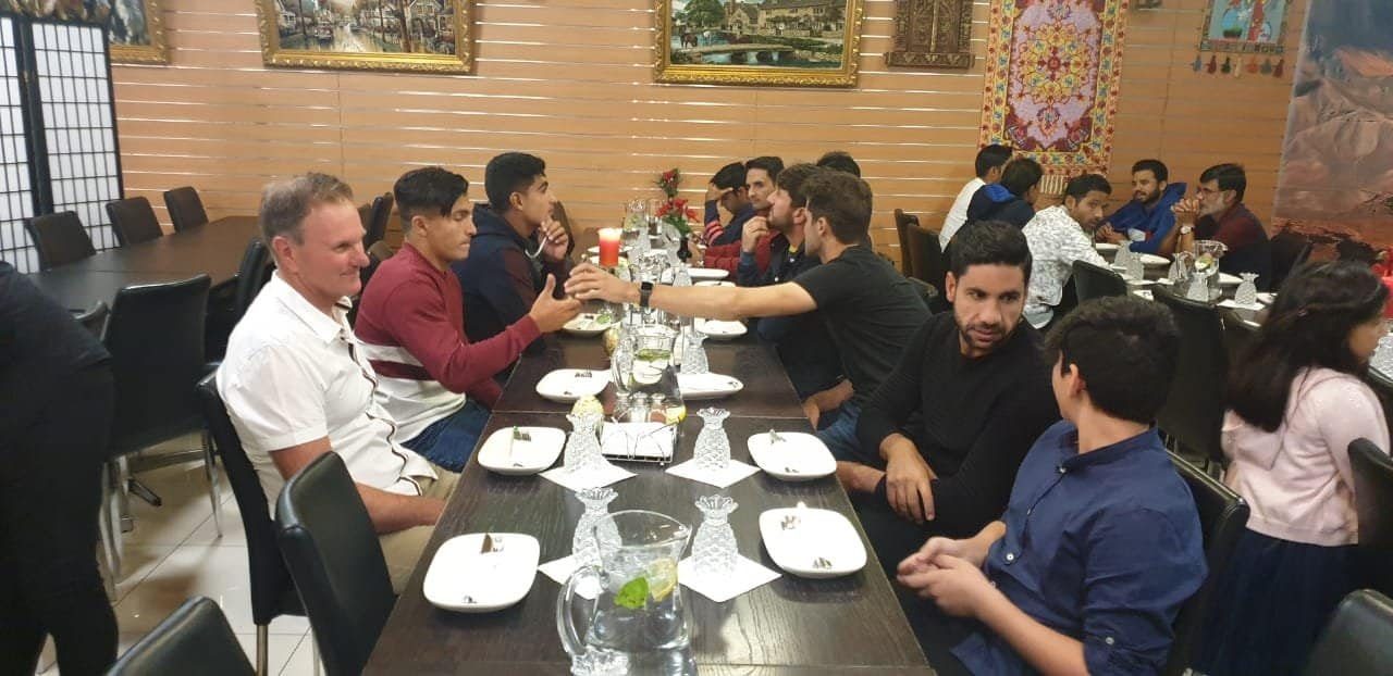 Pakistan Team Enjoying Dinner In Adelaide