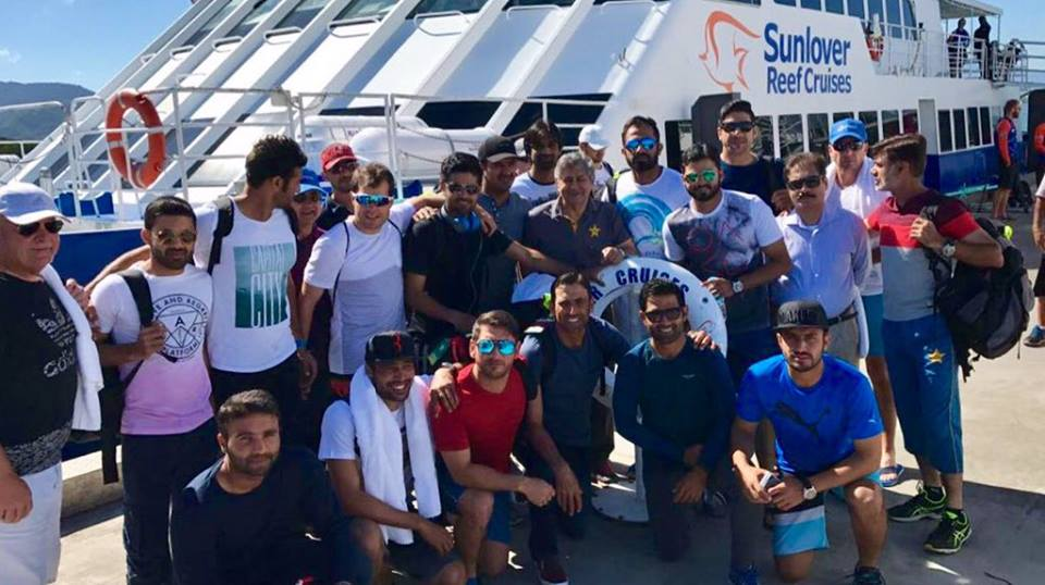 Pakistan Team Enjoying In Great Barrier Reef Australia