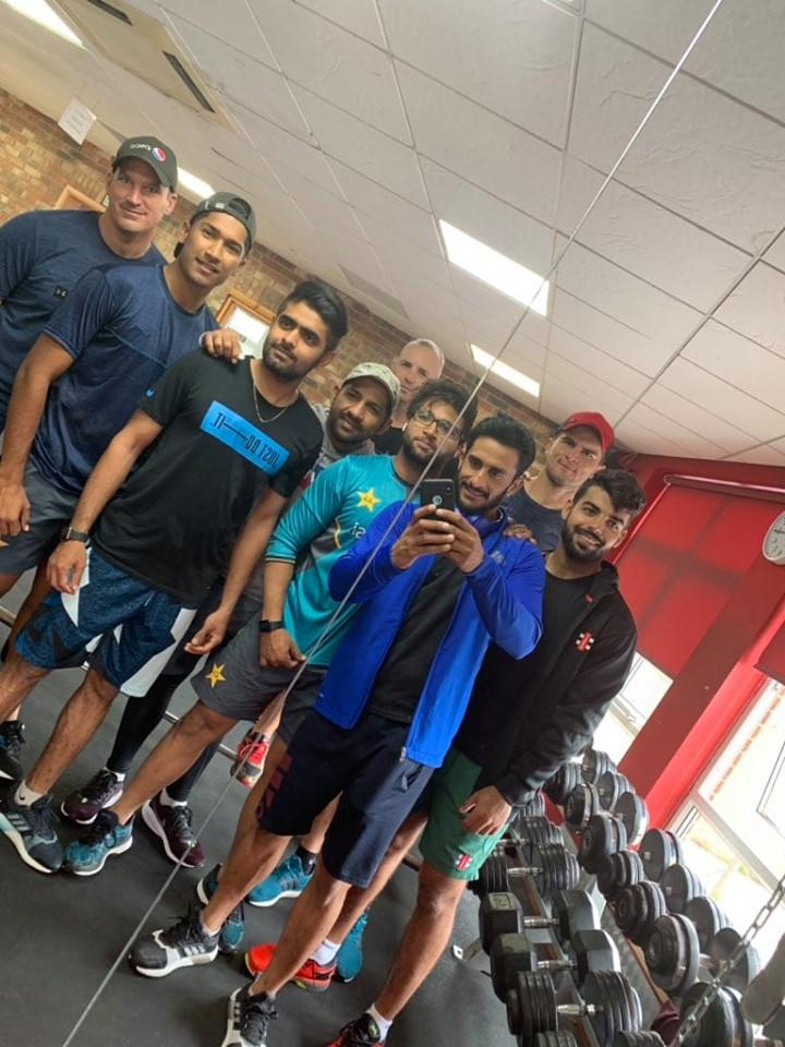 Pakistan Team Gym Session In Taunton