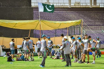 Pakistan Test Squad Preparations In National Stadium For Tour Of Windies