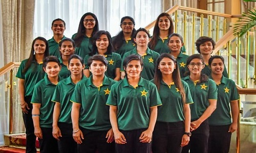 Pakistan Women's Squad Photoshoot Ahead Of Their Departure Of South Africa Tour