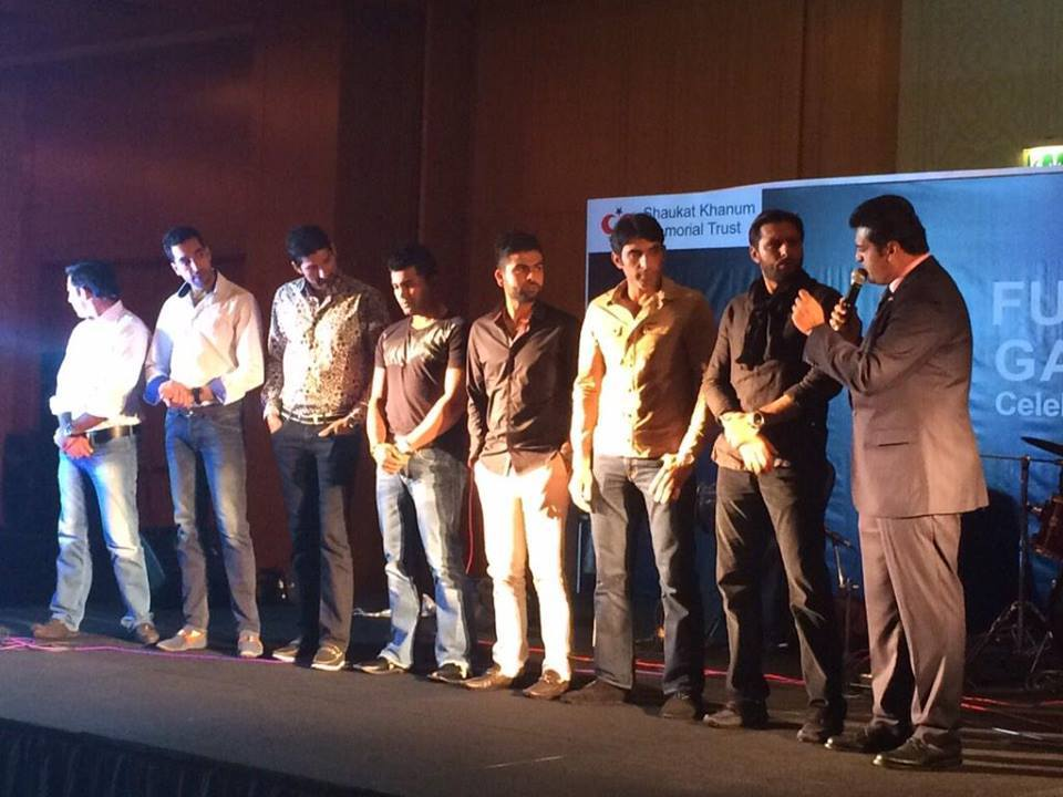 Pakistan cricket Team At Shaukat Khanum Fundraiser In Dubai