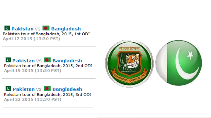 Pakistan vs Bangladesh 2015 ODI Fixtures