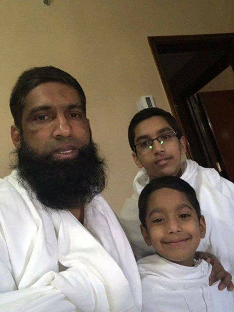 Pakistani Batsman M Yousuf with his kids