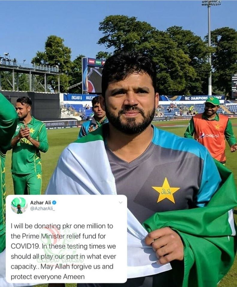 Pakistani Cricketer Azhar Ali Donates 1 Million Rupees To Coronavirus Funds