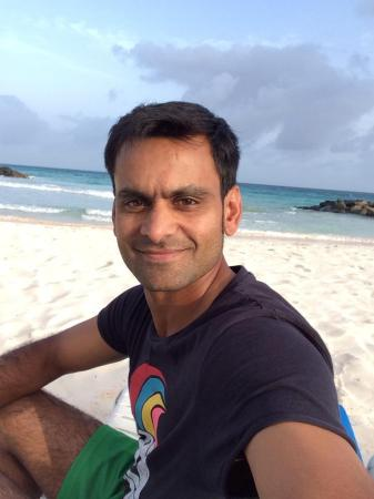 Pakistani Cricketer Mohammad Hafeez in Barbados Beach