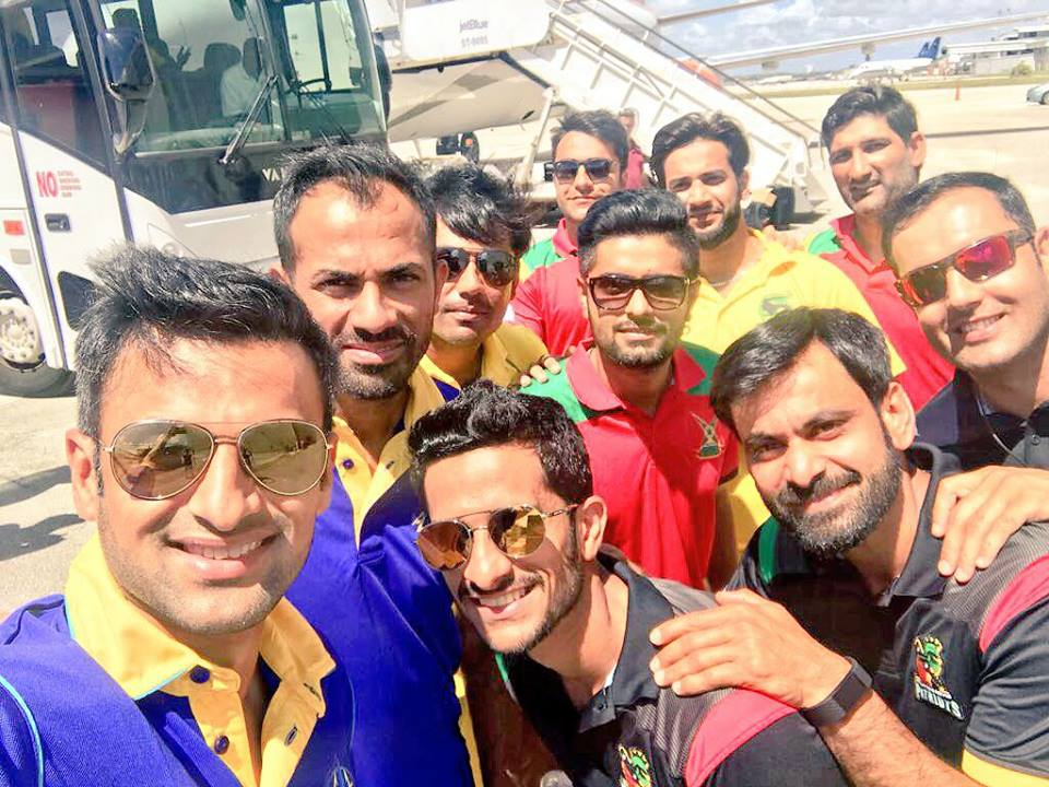 Pakistani Cricketers With Afghani Players In West Indies
