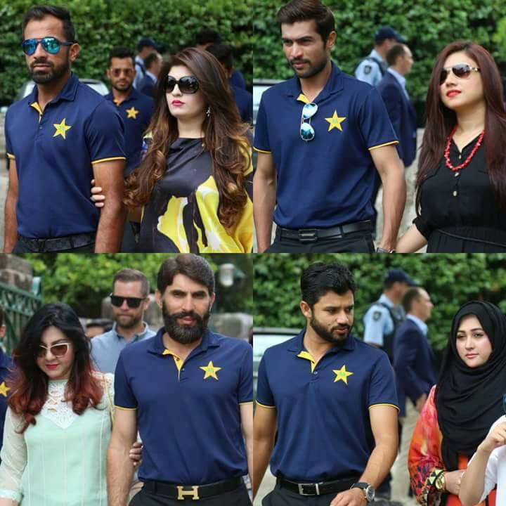 Pakistani Cricketers with their Wives!