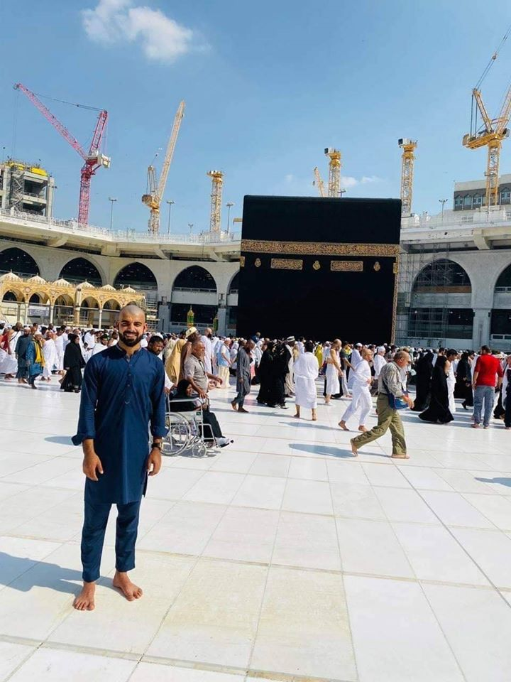 Pakistani Leg Spinner Shadab Khan Performing Umrah