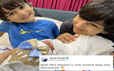 Pakistani Pacer Sohail Tanveer Blessed With Another Baby Boy