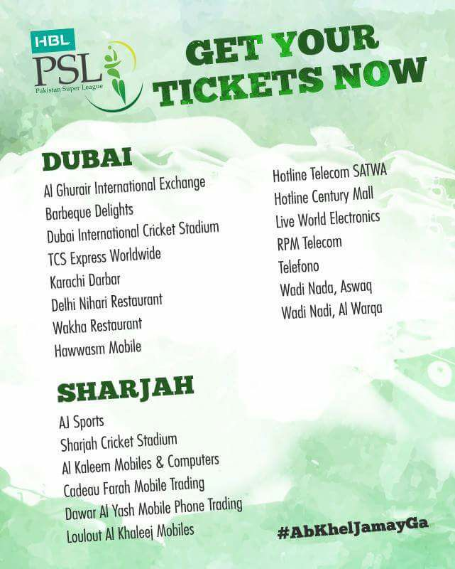 Peoples In UAE, Get Your Tickets Now
