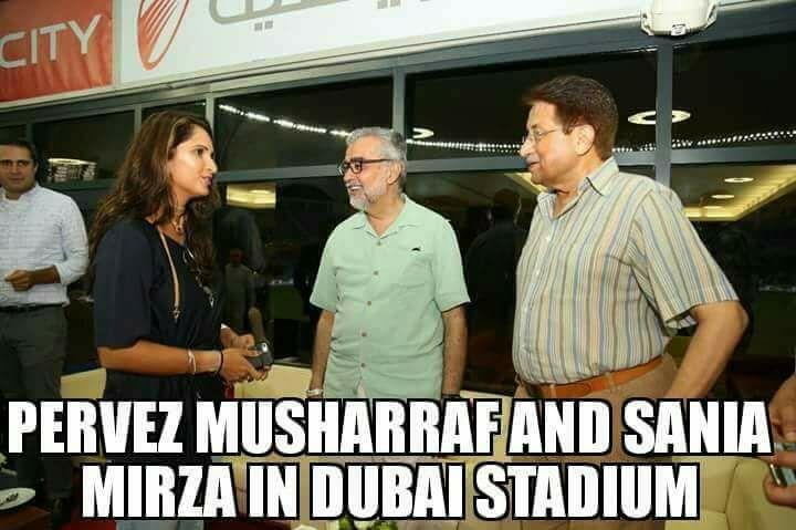 Pervez Musharraf & Sania Mirza In Dubai Stadium