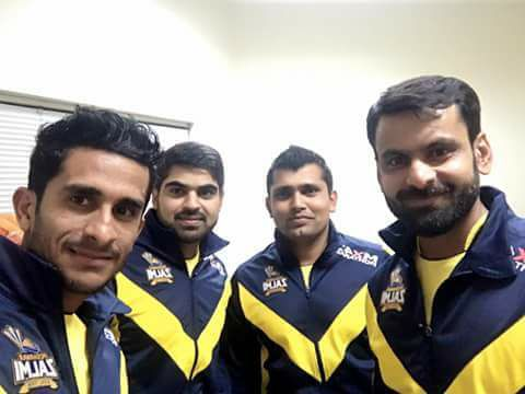 Peshawar Zalmi Players Last Night During Kit Launch