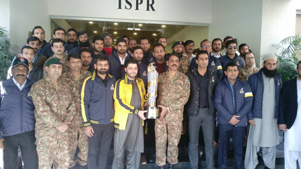 Peshawar Zalmi Team & Management Visited GHQ