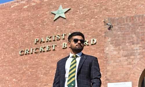 Photoshoot Of Pakistan's Newly Appointed Test Captain Babar Azam Ahead Of New Zealand Tour