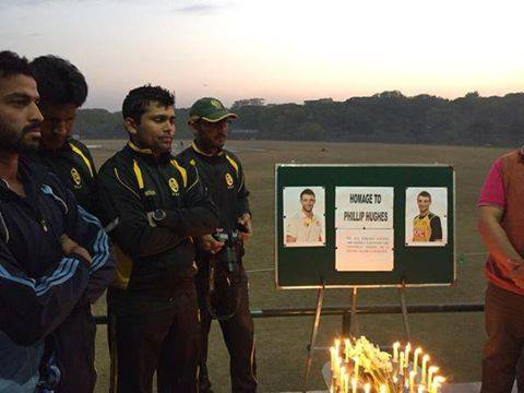 Players From UBL & NBP Paying Tribute To Phil Hughes In Islamabad