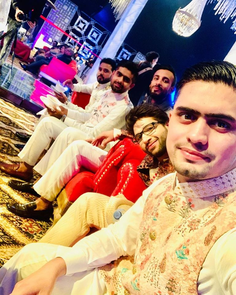 Players at Wahab Riaz sister's Mehndi