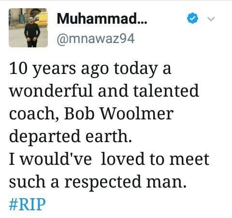 RIP Bob Woolmer