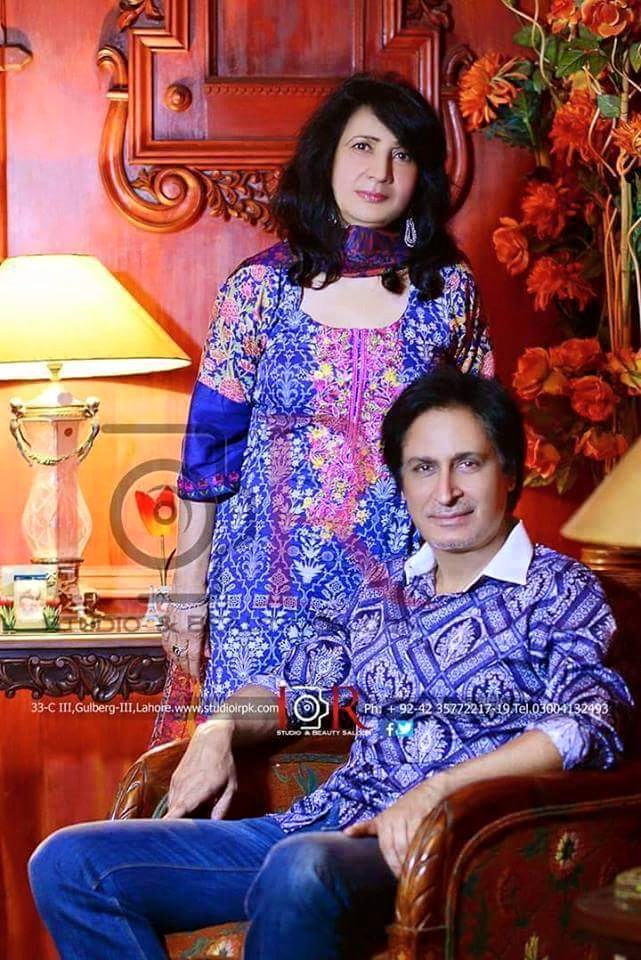 Rameez Raja And His Wife