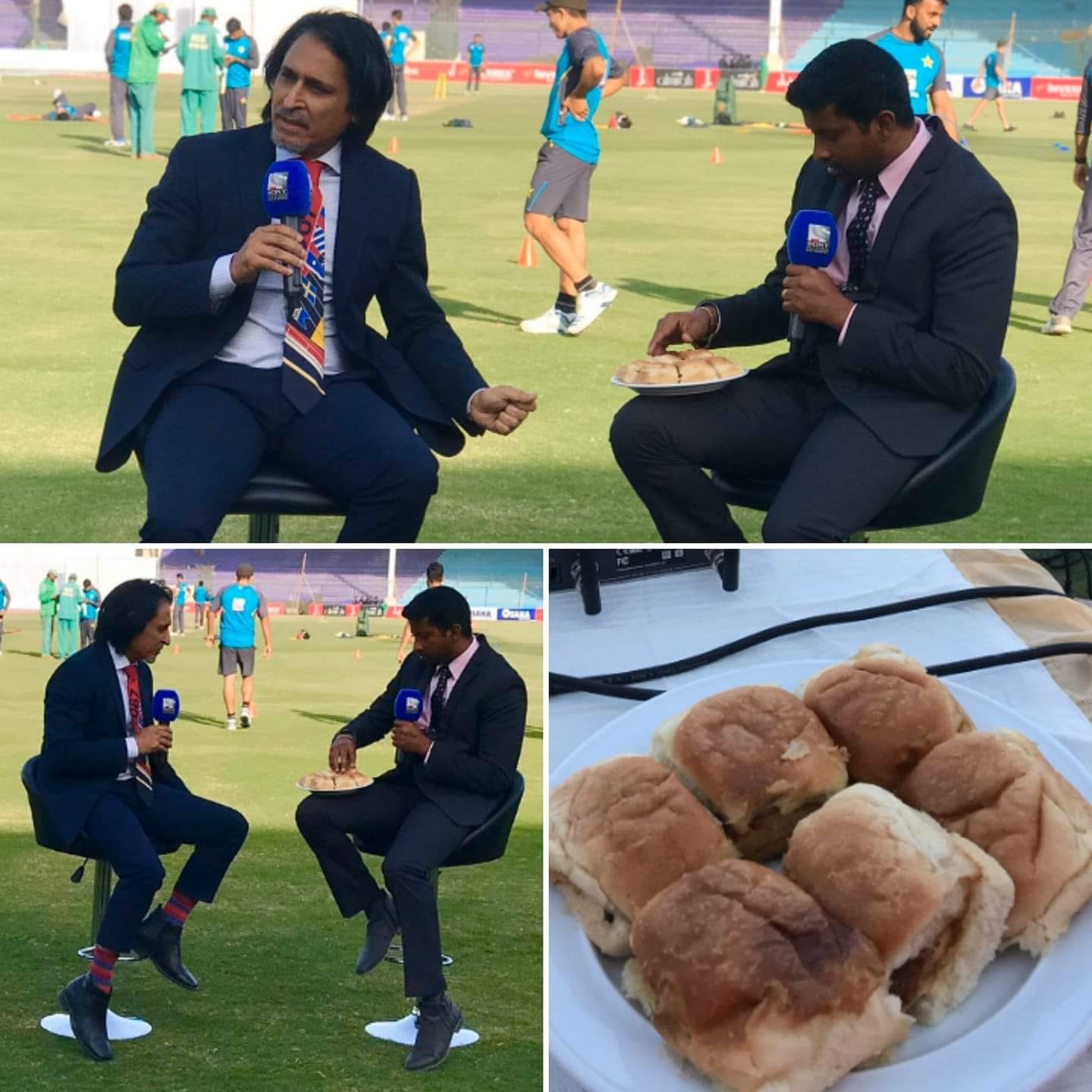 Ramiz Raja And Russel Arnold Had Karachi's Burns Road Bun Kababs In NSK