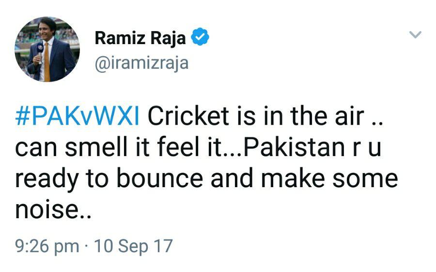 Ramiz Raja Tweet
