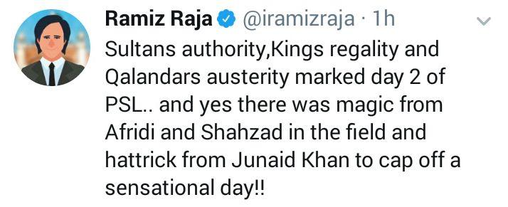Ramiz Raja Tweeted About Junaid Khan's Hat-Trick
