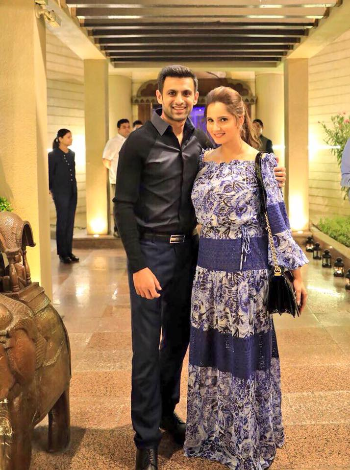 Recent Click Of Shoaib Malik & Sania Mirza In Dubai