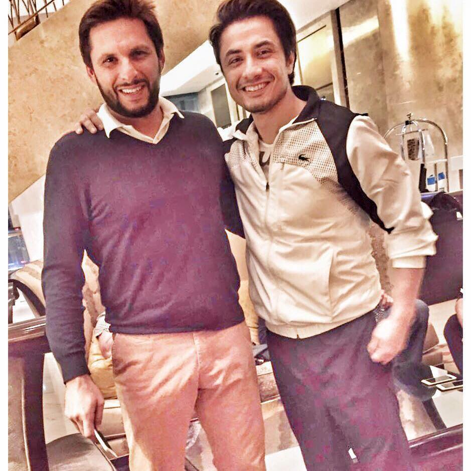 Rockstar Ali Zafar With Boom Boom Shahid Afridi In Dubai ‪for PSL‬