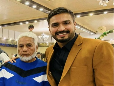 Rumman Raees With His Father